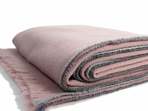 JAZZ CASHMERE THROW - MAUVE