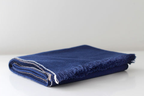JAZZ CASHMERE THROW - BLUE