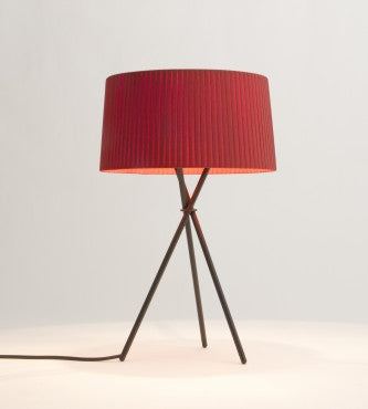 RED AMBER TRIPODE TABLE LAMP