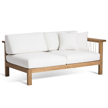 MARO 2 SEATER SOFA ARM RIGHT IN NATURAL CANVAS