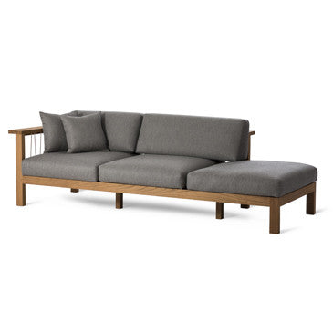 MARO CHAISE LOUNGE, ARM LEFT IN FLAGSHIP VAPOR