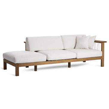 MARO CHAISE LOUNGE, ARM RIGHT IN NATURAL CANVAS