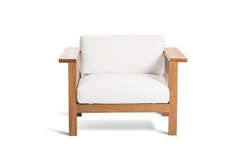MARO CLUB CHAIR IN NATURAL CANVAS