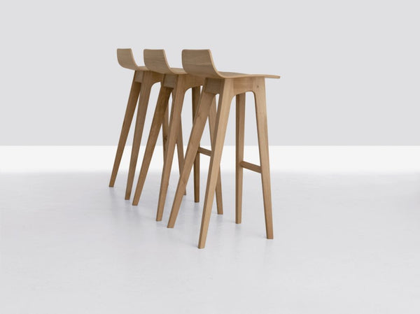 OAK MORPH BAR STOOL