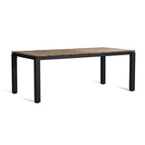 MACHAR DINING TABLE - TEAK TOP & ANTHRACITE BASE