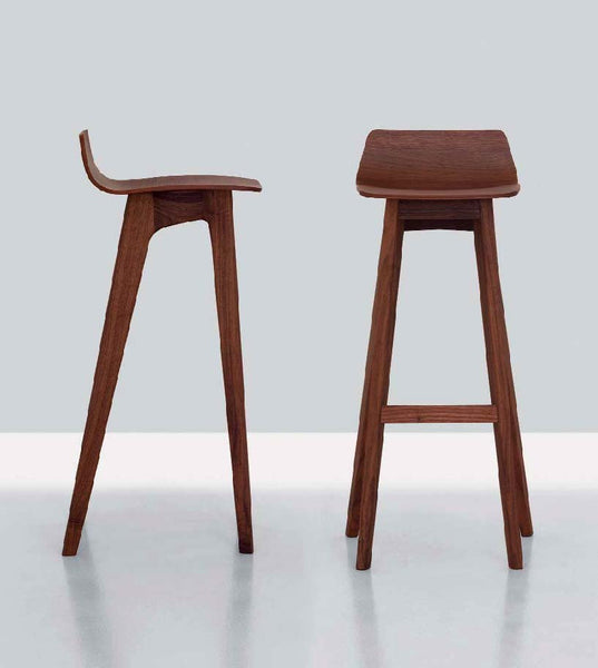 WALNUT MORPH BAR STOOL