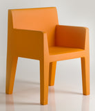 ORANGE COLOR SAMPLE ON JUT DINNING ARMCHAIR