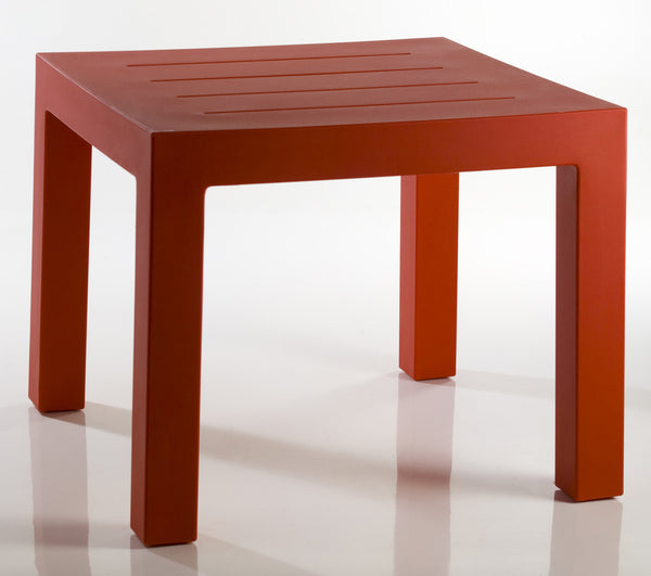 RED JUT SQUARE DINING TABLE