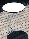 SERAC WHITE METAL END TABLE