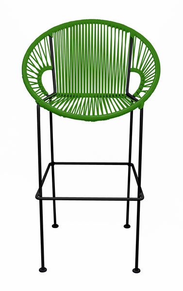GREEN PUERTO STOOL - BLACK FRAME