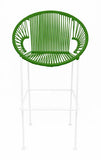 GREEN PUERTO STOOL - WHITE FRAME