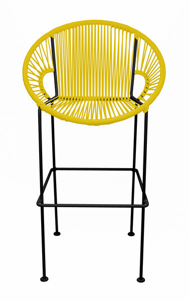 YELLOW PUERTO STOOL - BLACK FRAME