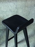 GRAPHITE STAINED OAK MORPH BAR STOOL