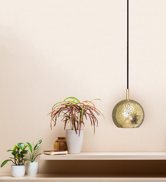 SHAMS MODERN BRASS MOROCCAN GLOBE PENDANT LIGHT