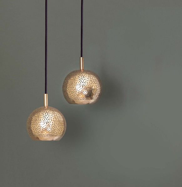 SHAMS MODERN COPPER MOROCCAN GLOBE PENDANT LIGHT
