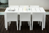 WHITE JUT DINING TABLE