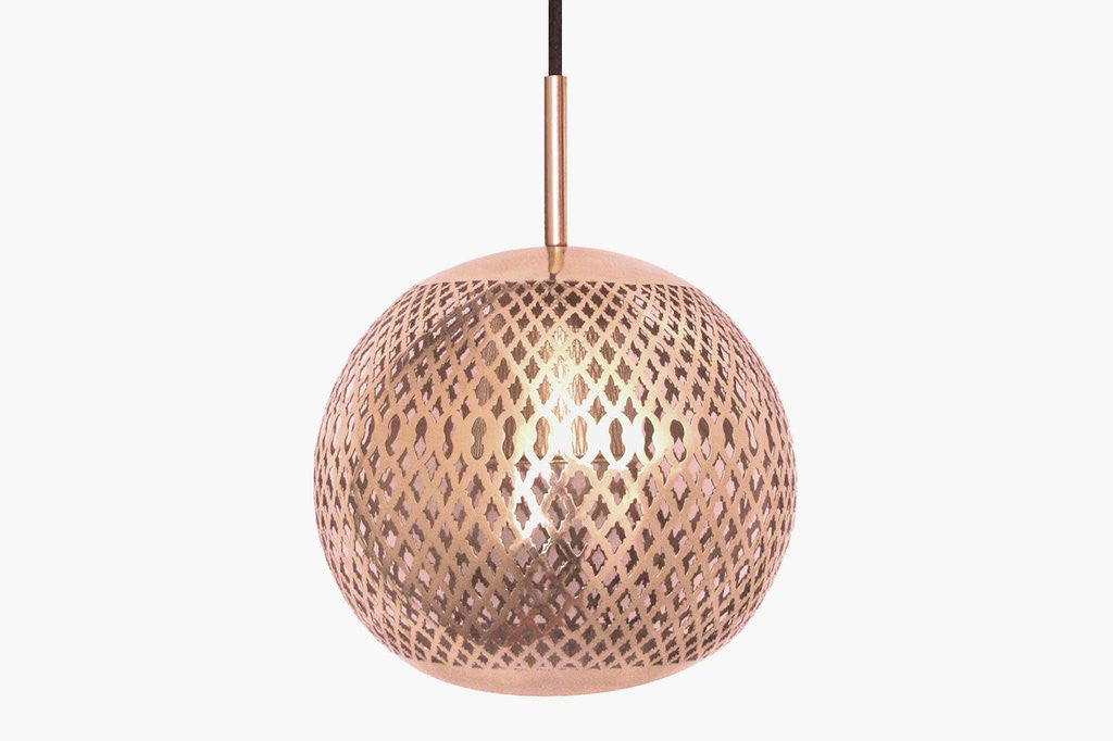 ZIYA MODERN COPPER MOROCCAN GLOBE PENDANT LIGHT