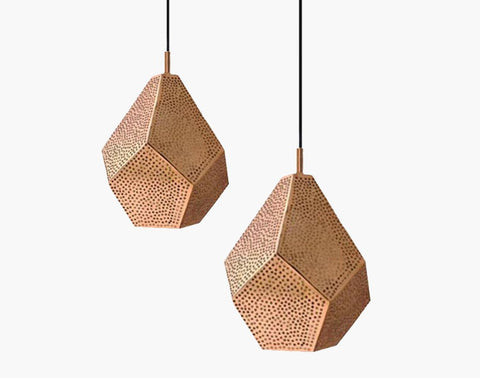 This stunning, handmade copper pendant light combines modern geometry wi... click for more information