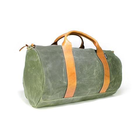 VOYAGER WAXED WEEKENDER BAG - ARMY GREEN
