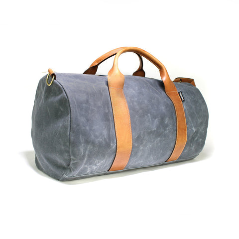 VOYAGER WAXED WEEKENDER BAG - CHARCOAL