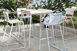 WHITE CORAIL BAR STOOLS WITH ARMS