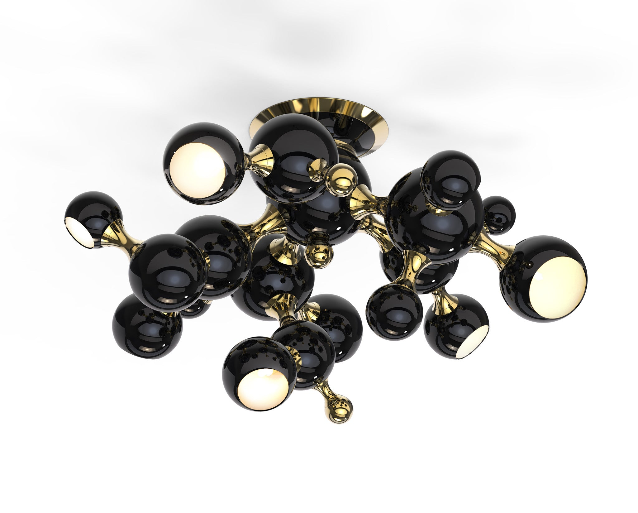 ATOMIC CEILING LIGHT - BLACK & GOLD