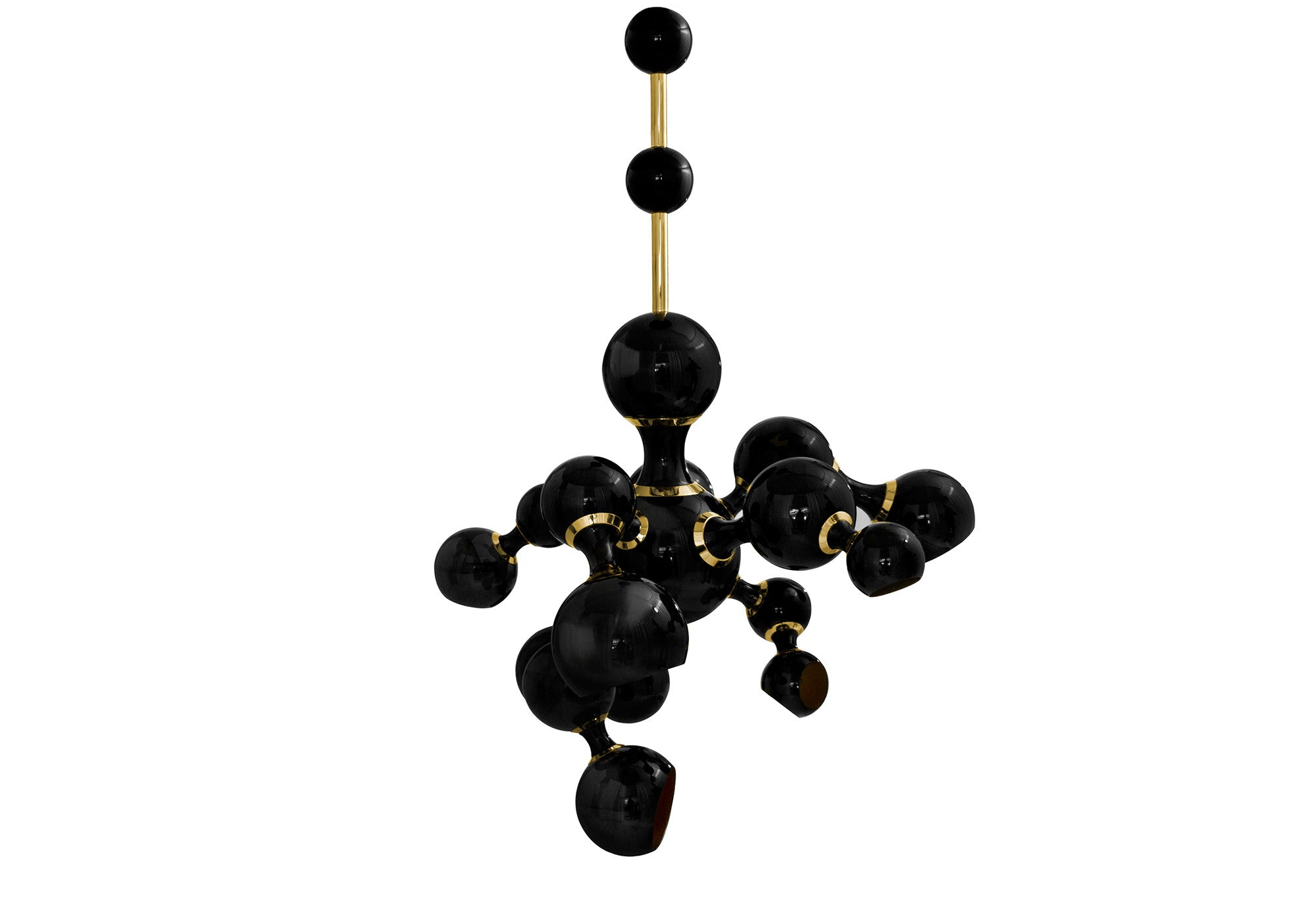ATOMIC PENDANT LIGHT - BLACK & GOLD