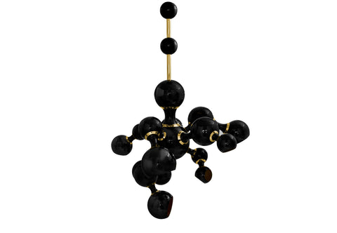 ATOMIC PENDANT - BLACK & GOLD
