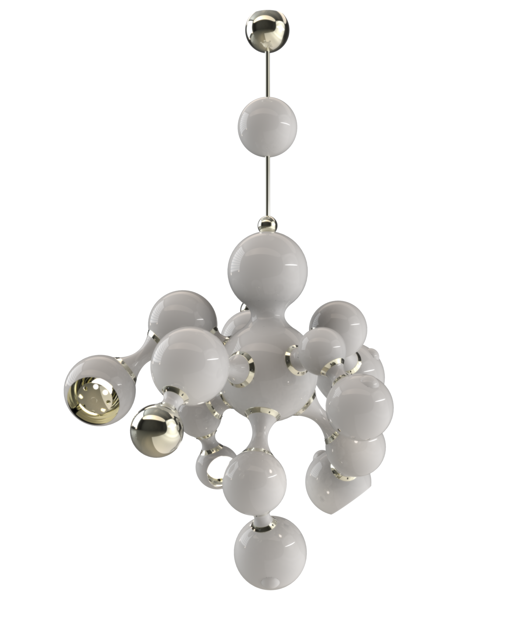ATOMIC PENDANT LIGHT GLOSSY WHITE METAL