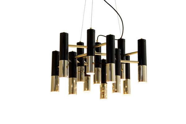 IKE MODERN BLACK & GOLD METAL CHANDELIER