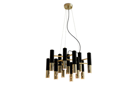 IKE CHANDELIER - BLACK & GOLD