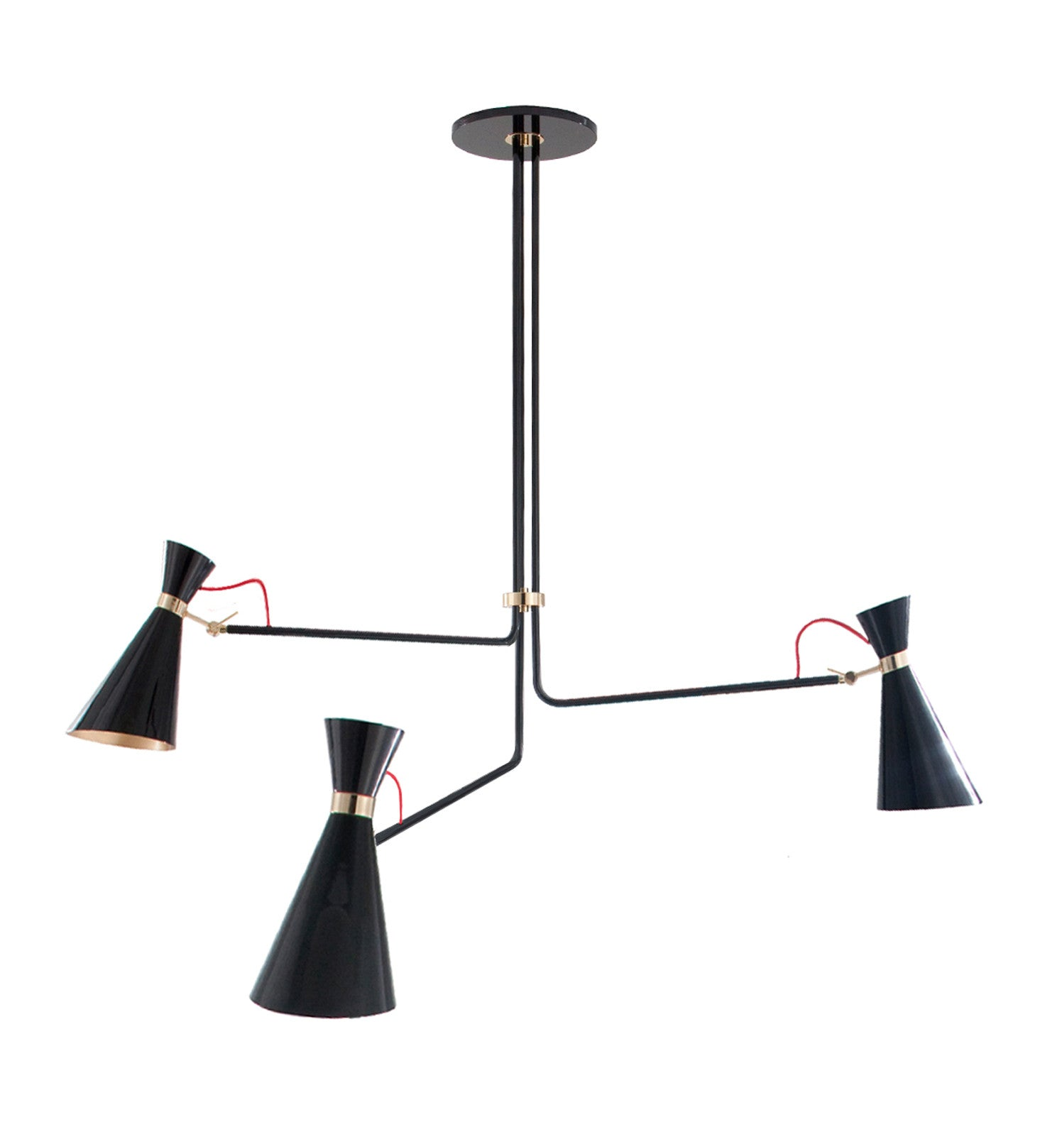 SIMONE MODERN METAL CHANDELIER BLACK & GOLD