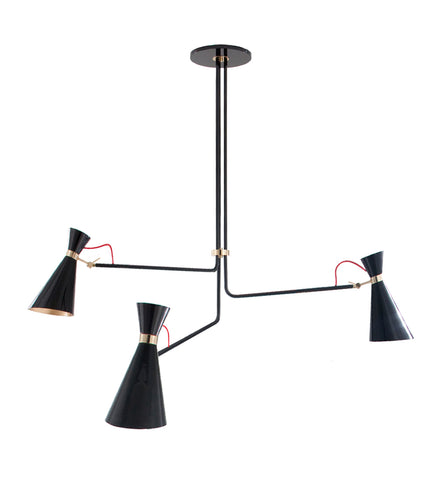 SIMONE CHANDELIER - BLACK & GOLD