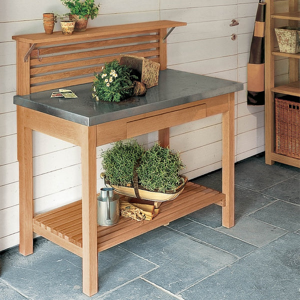 TEAK POTTING BENCH