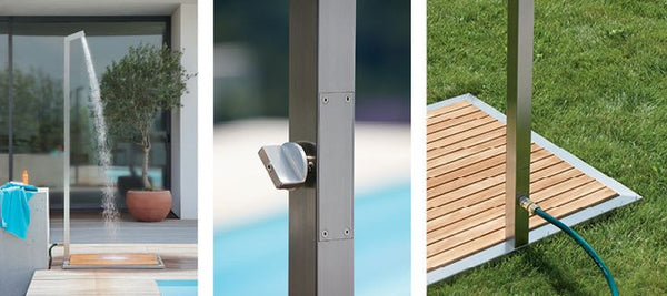 OUTDOOR TEAK SHOWER