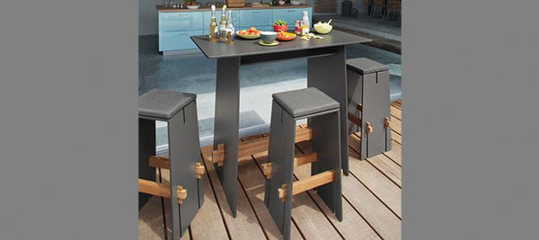 OKTAV BAR TABLE AND  BAR STOOL