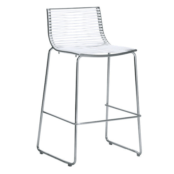 PAN BARSTOOL-WHITE