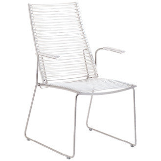 PAN HIGHBACK ARMCHAIR -WHITE