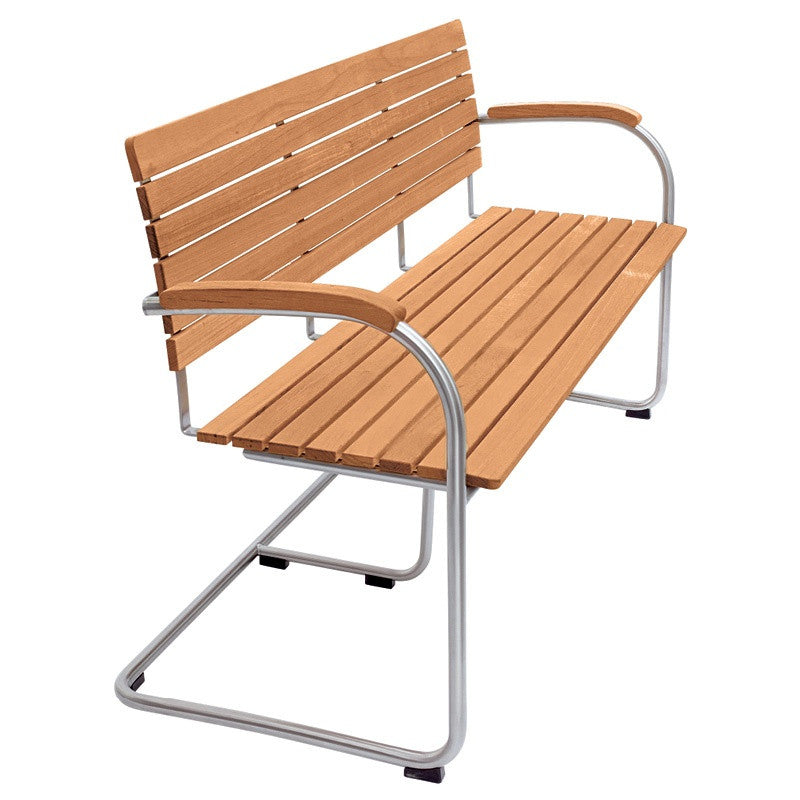 BOLERO TEAK BENCH WITH ARMRESTS