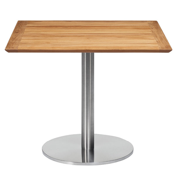 RONDA SINGLE PEDESTAL SQUARE DINING TABLE-TEAK