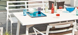 RIVOLI TABLE-SATINISED GLASS TOP