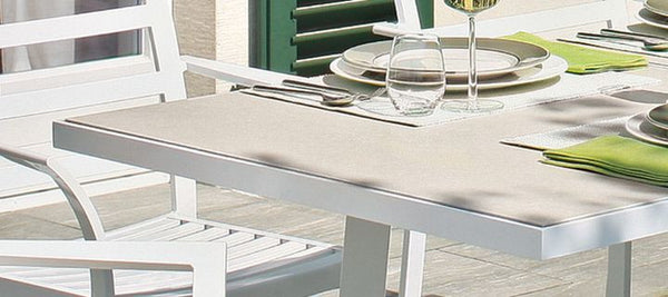 RIVOLI  TABLE-CERAMIC STONE SAND