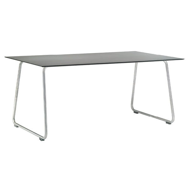 RONDA CURVED FRAME DINING TABLE-ANTHRACITE RESIN