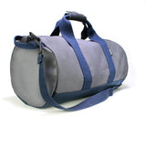 owen & fred grey navy canvas duffel bag