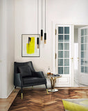 IKE MODERN BLACK & GOLD METAL PENDANT LIGHT