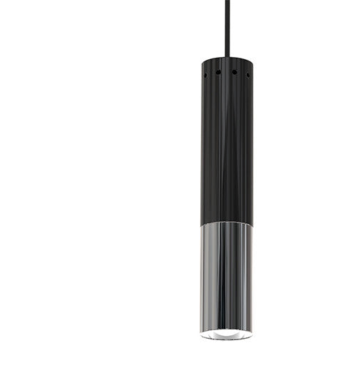 IKE MODERN BLACK & NICKLE METAL PENDANT LIGHT