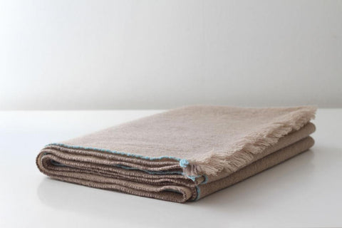 JAZZ CASHMERE THROW - BEIGE