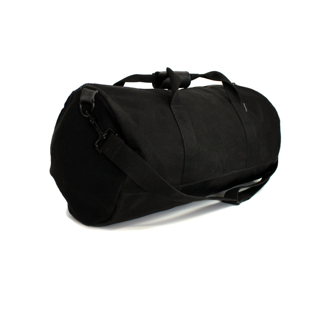 owen & fred black canvas duffel bag