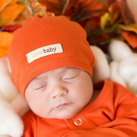 L'ovedbaby Pumpkin Organic Cotton Cute Cap for baby boy or girl