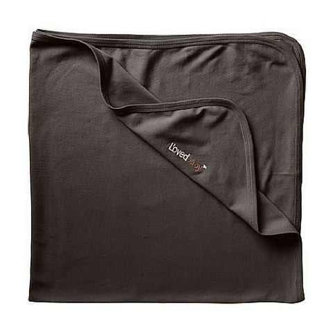 L'ovedbaby Gray Organic Cotton Swaddling Blanket